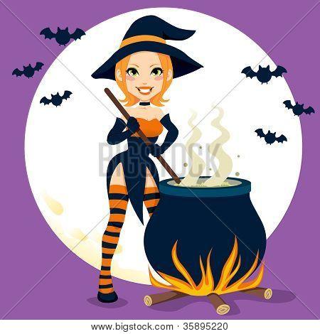 Sexy Witch Cauldron