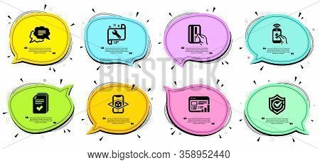 Text Message, Augmented Reality And Phone Payment Signs. Chat Bubbles With Quotes. Spanner, Web Repo