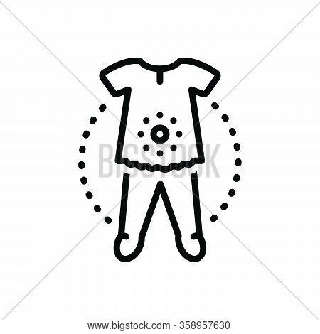 Black Line Icon For Overall Entire Clothes Dress Fashion Accessories