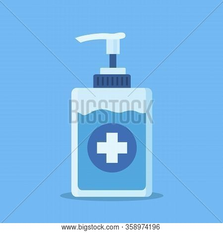 Sanitation Dispenser Icon Isolated On White Background.disinfection. Hand Sanitizer Bottle, Washing