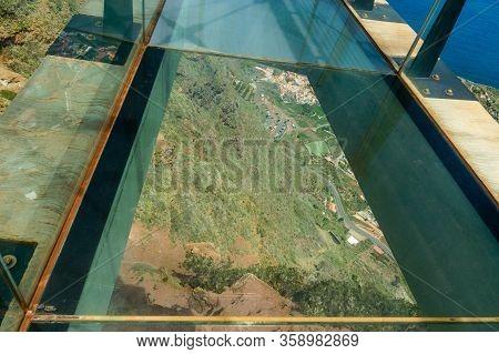 Views From The Glass Floor Of The Mirador De Abrante On La Gomera Island. April 15, 2019. La Gomera,