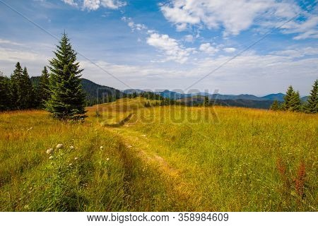 Sunny View Of The Velka Fatra Mountain On The Central Slovakia
