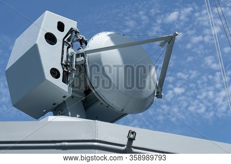 Fire Control Radar Onboard Modern Navy Warship