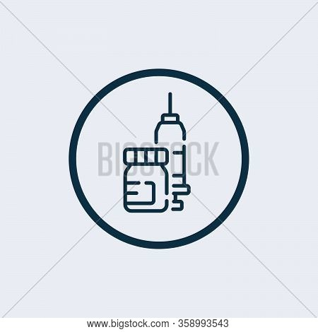 Syringe Icon Isolated On White Background. Syringe Icon Simple Sign. Syringe Icon Trendy And Modern