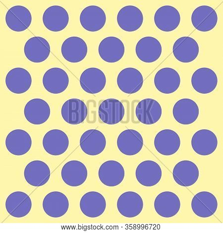 Easter Pattern Polka Dots. Template Background In Violet And Yellow Polka Dots. Seamless Fabric Text