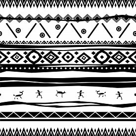 Abstract Vector Background In Black And White.