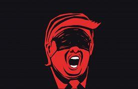 Washington D.c.- Usa - Mar, 2020: Us President Donald Trump Wearing Medical Mask. Coronavirus Covid-