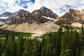 The Rocky Mountains. Crowfoot Glacier & Crowfoot Mountain Banff National Park, Alberta, Canada