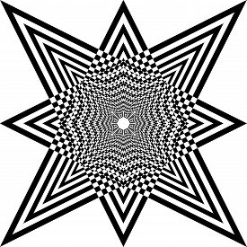 Abstract Arabesque Hexa Developement Stellar Game Perspective Design Black On Transparent Seamless P