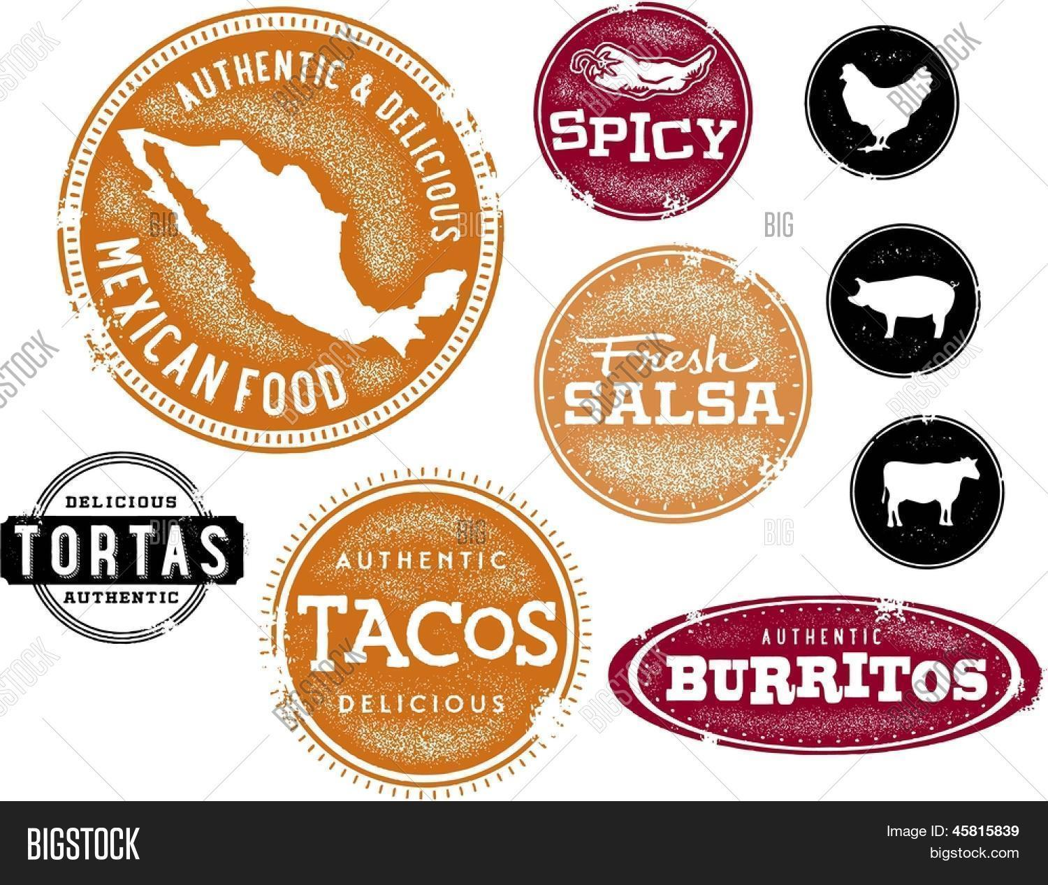 mexican food vector & photo (free trial) | bigstock