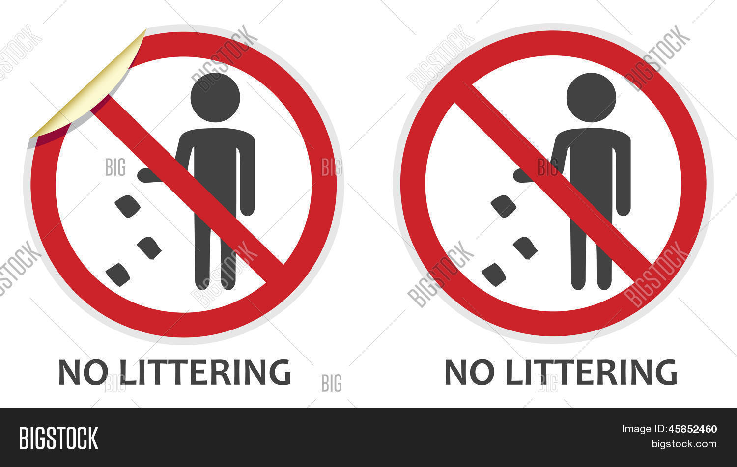 No Littering Sign Vector Photo Free Trial Bigstock