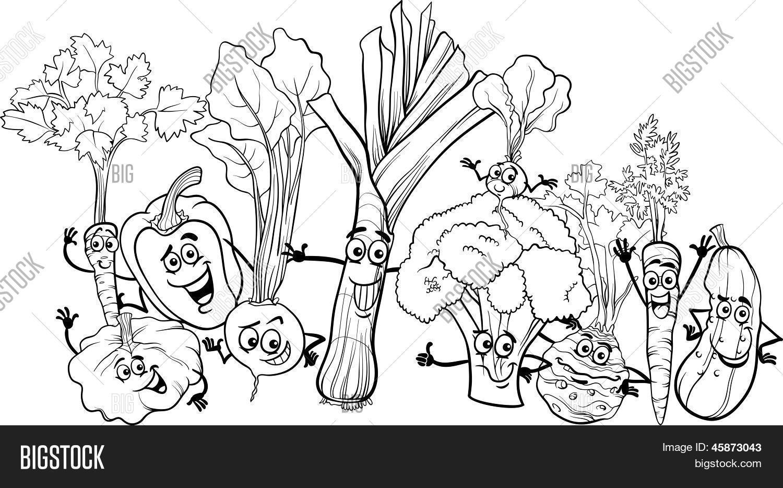 Cartoon Vegetables Vector Photo Free Trial Bigstock