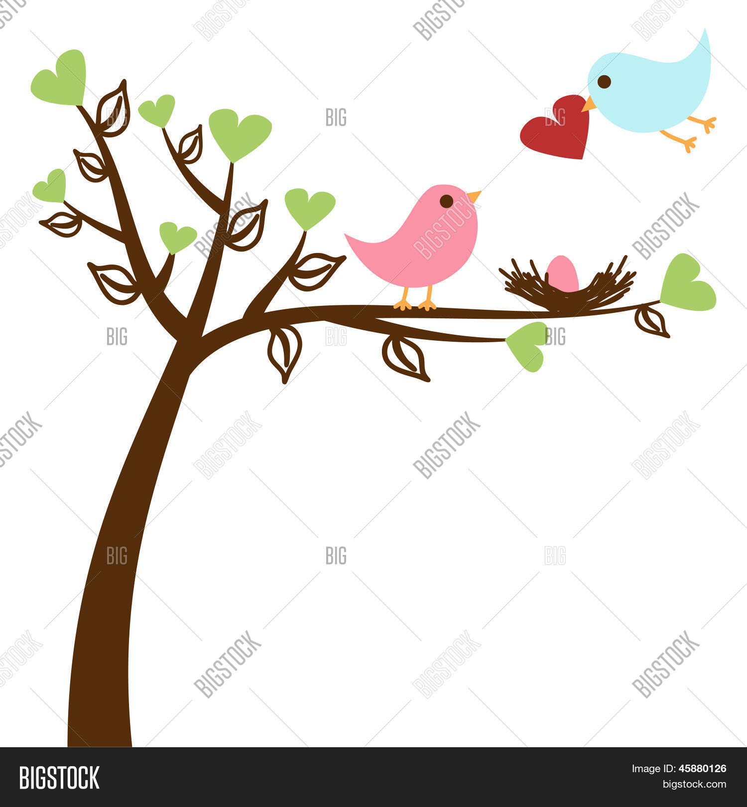 Bird Family Baby Shower Invitation Vector & Photo | Bigstock