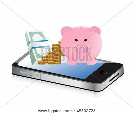 Track Your Savings Technology Concept