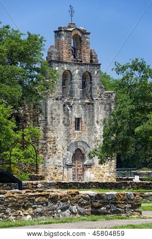 Entrance to the chapel at historic Mission Espada poster