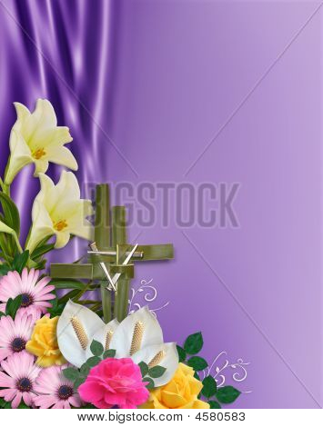 Easter Flowers Cross And Nails