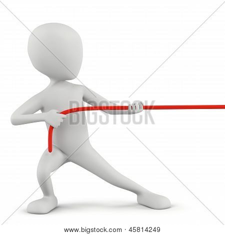 3D Small People - Rope Pulling.