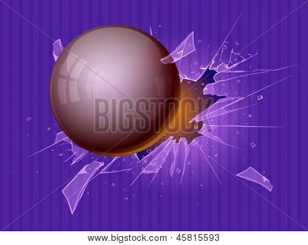Broken glass. Vector illustration