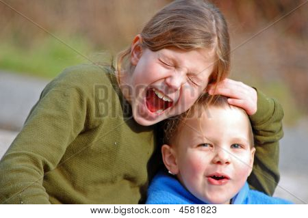 Silly Moment Of Siblings