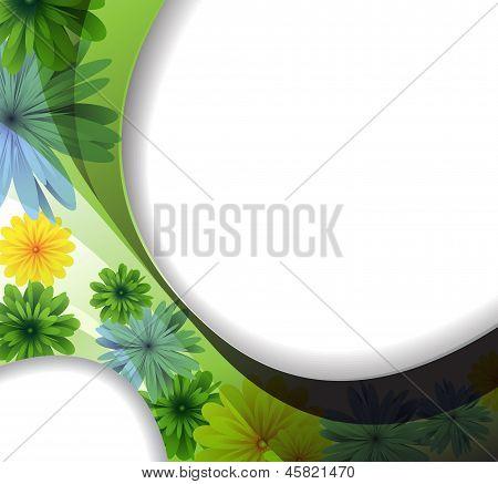 Elegante Blumen Hintergrund