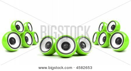 Green Stylish High-power Audio System