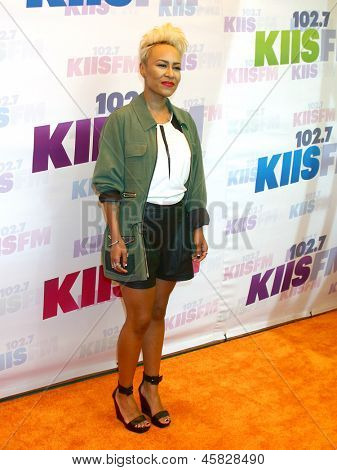 LOS ANGELES - MAY 11:  Emeli Sande attends the 2013 Wango Tango concert produced by KIIS-FM at the Home Depot Center on May 11, 2013 in Carson, CA