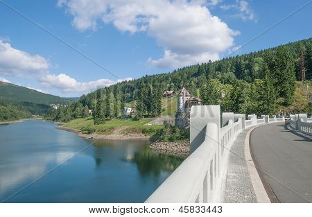 River Elbe Reservoir near Spindleruv Mlyn in Giant Mountains,Czech Republic poster