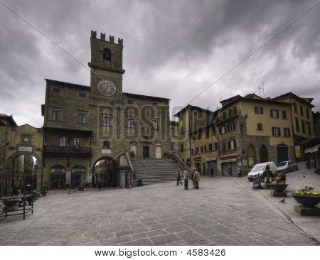 Main Square, Cortona, Tuscany