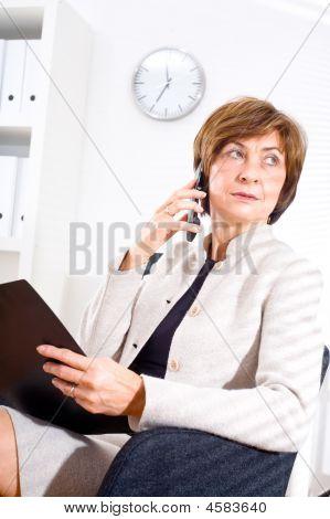 Senior Businesswoman At Office
