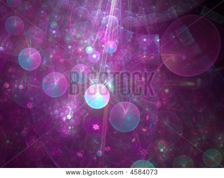 Abstract background. Purple - blue palette. Raster fractal graphics. poster