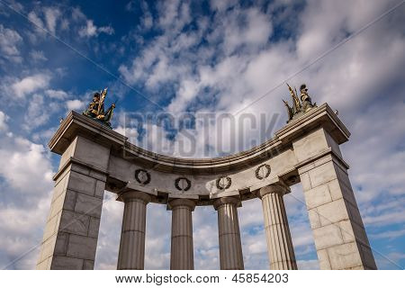 Detail Of Bagration Bridge And Blue Sky In Background, Moscow, Russia