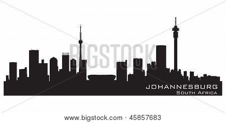 Johannesburg South Africa Skyline Detailed Vector Silhouette
