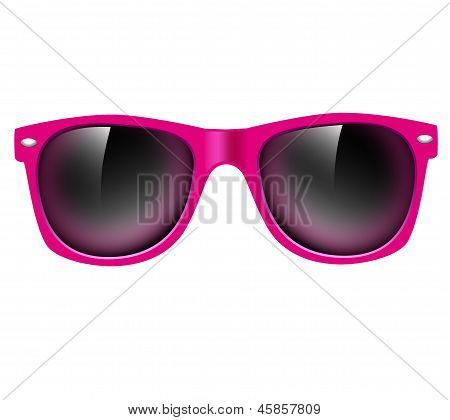 fashion pink sunglasses isolated. vector illustration background. poster