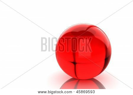 Glass Red Ball