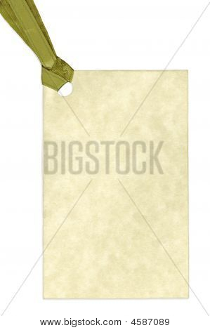 Blank Gift Tag Isolated On White Background
