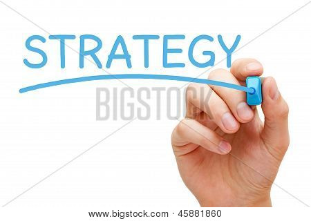Strategy Blue Marker