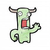 cartoon crazy little monster poster