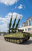 Russian mobile surface-to-air missile system 2K12M1 Kub-M1 (NATO reporting name: SA-6 Gainful) poster