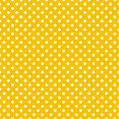 Seamless vector pattern with white polka dots on a sunny yellow background. For website design or desktop wallpaper poster