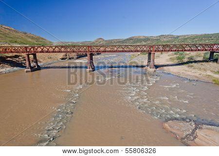 Old Single Lane Bridge River