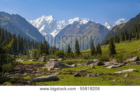Landscape of high mountain. Kyrgyzstan