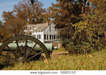 Vicksburg house and cannon
