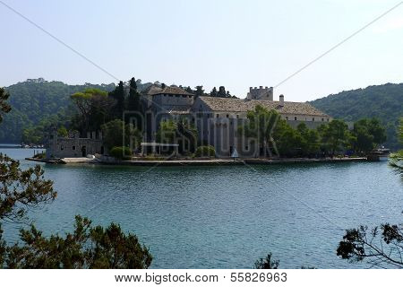 Monastery of Saint Mary in national park on island Mljet Croatia Europe poster