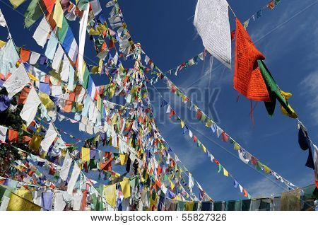 Dharamsala, Buddhist Prayer Flags