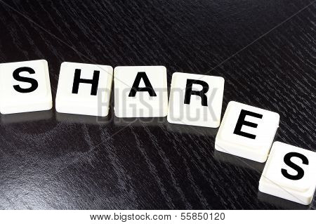 The Word Shares - A Term Used For Business, Finance and Tax Concept