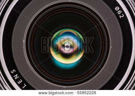 Front Element Of A Camera Lens