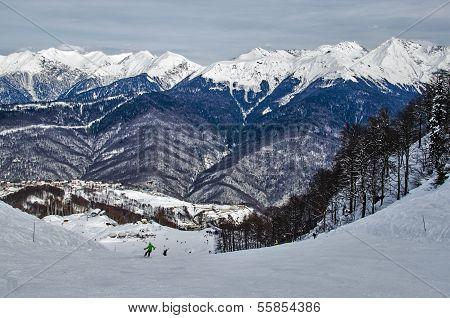 Ski Trail Rosa Khutor.