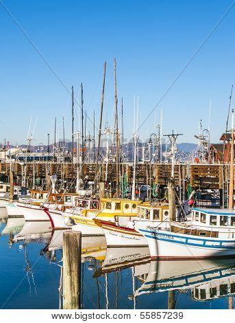 Sailing Boats At Fishermans Wharf