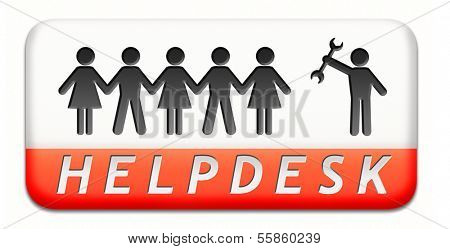 online helpdesk support desk or help desk button technical assitance and customer service