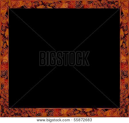 Decorative Swirls Frame Background